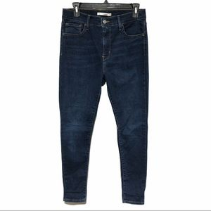 Levi's High Rise Super Skinny Medium Wash Jeans
